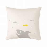 "Sea life, shark Cushion, cushion cover 50x50 cm (20x20"")"