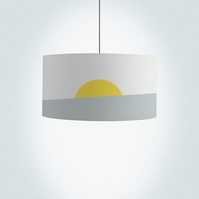 "Sunrise Drum Lampshade, Diameter 45 cm (18""), Ceiling or floor lamp"
