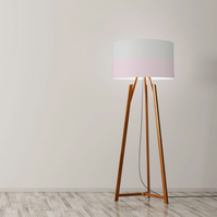 "Pastel lines, light grey and pale pink Drum Lampshade, Diameter 45 cm (18"")"