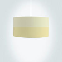 "Pastel yellow lines Drum Lampshade, Diameter 45 cm (18"")"