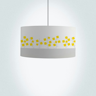 "Rapeseed field Drum Lampshade, Diameter 45 cm (18""), Ceiling or floor lamp"
