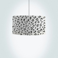 "Leopard print Drum Lampshade, Diameter 45cm (18""), Ceiling or floor lamp"