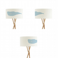 "Whale Drum Lampshade, Diameter 45 cm (18""), Ceiling or floor lamp"