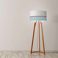 "Lines, blue and red Drum Lampshade, Diameter 45 cm (18""), Ceiling or floor lamp"