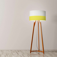 "Yellow Line Drum Lampshade, Diameter 45 cm (18""), Ceiling or floor lamp"