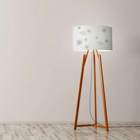"Stars and space ship Drum Lampshade, Diameter 45 cm (18""), Ceiling or floor lamp"