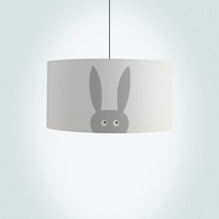 "Rabbit Drum Lampshade, Diameter 45cm (18""), Ceiling or floor lamp"