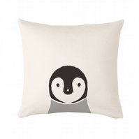 "Penguin Cushion, cushion cover 50x50 cm (20x20"")"