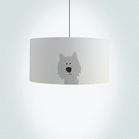 "Dog Drum Lampshade, Diameter 45 cm (18""), Ceiling or floor lamp"