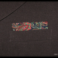 Paisley Pocket Square - Mens Handkerchief - Pocket Handkerchief - Mens Accessory