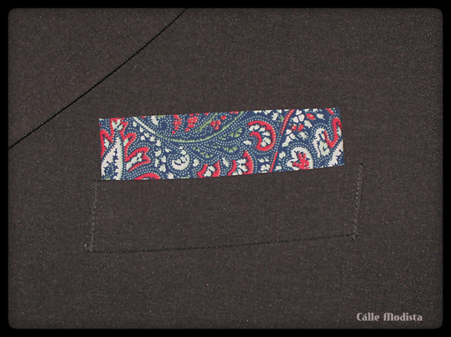 Pocket Square, Mens Handkerchief, Blue Paisley, Suit Hankie, Cotton Handkerchief