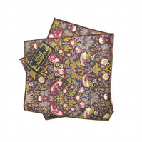 Floral Pocket Square - Mens Handkerchief - Pocket Handkerchief - Mens Accessory