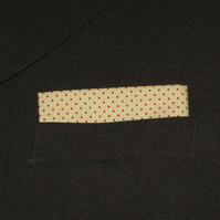 Handkerchief, Pocket square, Lemon and Red Spot Handkerchief, Mens Handkerchief