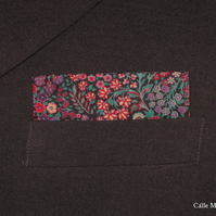Floral Pocket Square, Mens Liberty Handkerchief