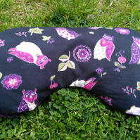 Relaxing aromatherapy lavender eye pillow or mask with owl pattern cotton