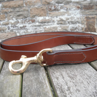 "1"" Wide Bridle leather Dog Leash"