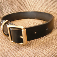 English Bridle leather Dog Collar