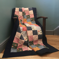 Patchwork Fox fabric quilt (quillow)