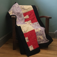 Patchwork stripey quilt (quillow)