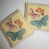 Butterfly Fabric Coaster