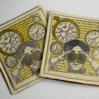 Steam Punk Fabric Coaster