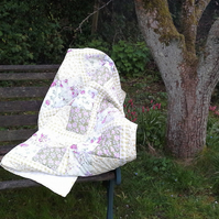 'Spring' patchwork throw