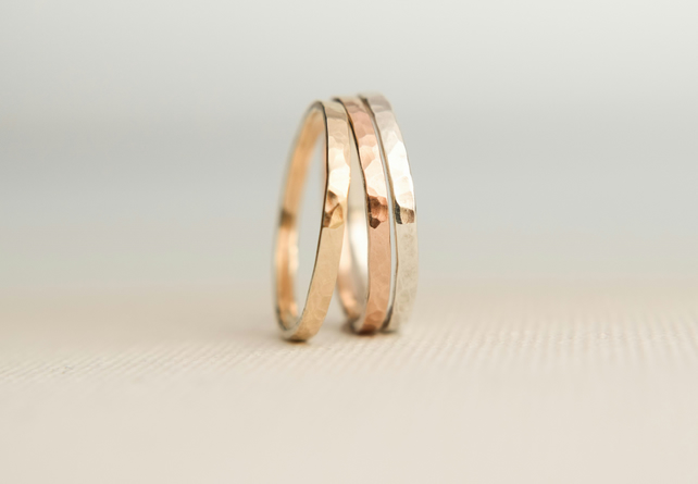 Stacking Rings - Solid Gold Stacking Rings