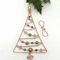 Copper Christmas Tree Decoration