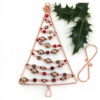 Christmas Tree Decoration, Copper Wire and Beads