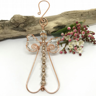 Copper Angel Decoration, Christmas Decoration