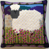 Cross Stitch Kit - Stitch Your Own Cushion Front - Ba-Ba-Barbara The Sheep