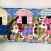 Cross Stitch Kit - Stitch Your Own Cushion Kit - Henry, Lottie & Mimi