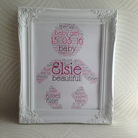 Childs birthday, christening, baby shower, new baby gift