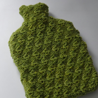 Bright Green Textured Hot Water Bottle Cover