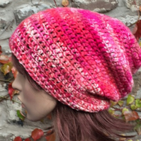 Crochet Kit for Pink Mix Slouchy Hat