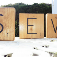 Set of 3 Giant Scrabble style letters