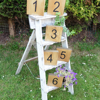 10 Rustic Wooden Table number blocks