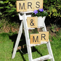Mr & Mrs Scrabble style Blocks