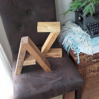 Solid wood industrial style Letters