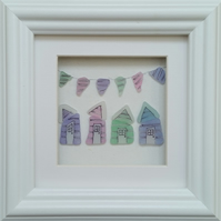 Sea Glass Beach Huts and Bunting