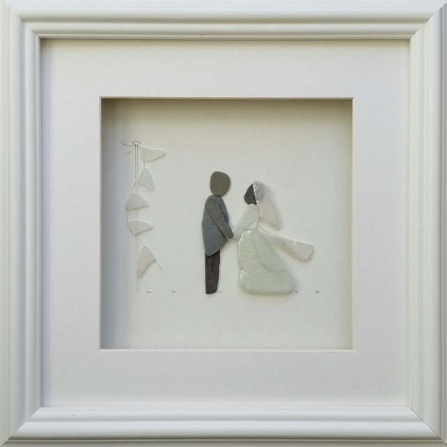 Wedding Gift Ideas Bride And Groom Portraits Pebble Art Pictures Sea Gl Ar