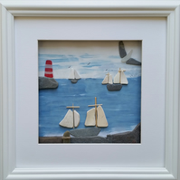 Tall Ship Races, Pebble Art Pictures, Sea Pottery