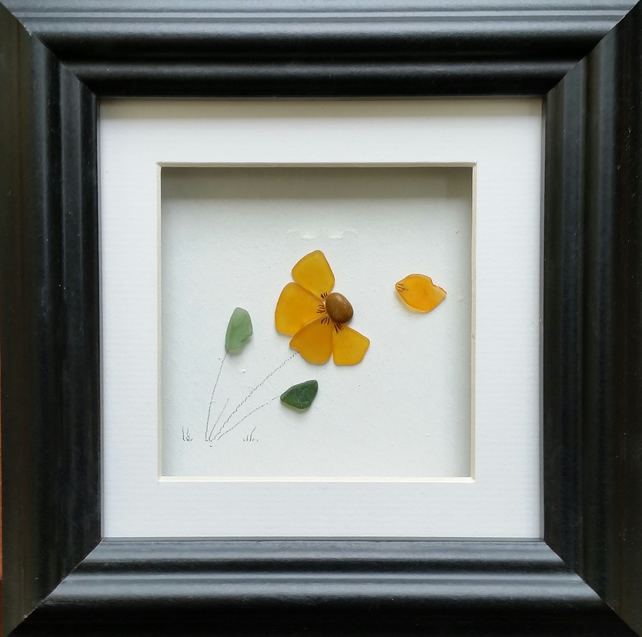 Sea Glass Flower, Sea Glass Art, Birthday Gifts, Anniversary Gifts, for Mums