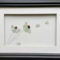 Wall Art, Sea Glass Flower, Sea Glass Art, Mother's Day Gift, Anniversary,