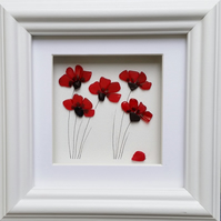 Stained Glass Poppies, Sea Glass Poppies, Mosaics Poppy Pictures