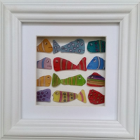 Stained Glass, Sea Glass Fish, Sea Glass Art