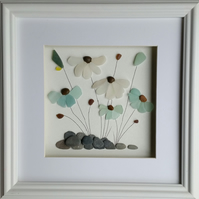 Sea Glass Art, Sea Glass Flowers, Stained Glass Mosaics, Unique Gift