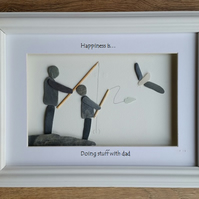 Father's Day Gifts, Pebble Art Picture, Gifts for Dads