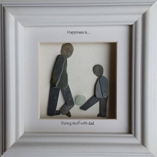 Football, Fathers Day Gift, Pebble Art Picture, Made in Cornwall