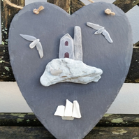 Slate Heart Featuring a Cornish Tin Mine Scene.